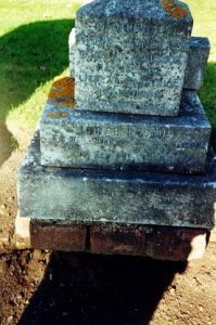 Langlade's Gravestone: Winter 2000