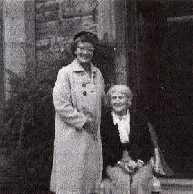 """1962"" (l to r), Elsie Reeves with her Aunt Christina Somerville"